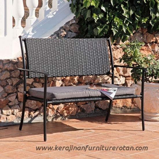 Sofa teras rotan minimalis 2 seater export furniture rotan modern
