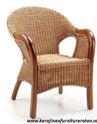 Kursi tamu rotan antik export furniture rotan klasik brown