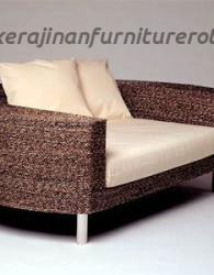 Sofa kayu rotan modern export furniture minimalis rotan
