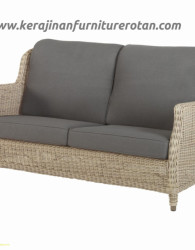 Sofa rotan grey modern export furniture rotan minimalis