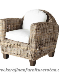 Sofa rotan minimalis export furniture rotan natural modern