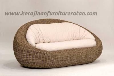 Sofa rotan oval export furniture rotan minimalis
