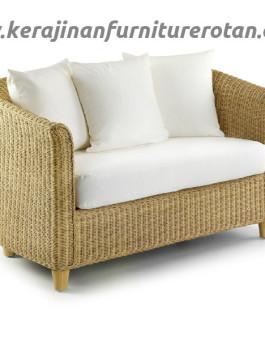 Sofa rotan santai minimalis export furniture rotan modern putih