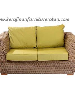 Sofa rotan yellow export furniture rotan minimalis