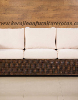 Sofa tamu rotan mini 3 seater export furniture rotan minimalis