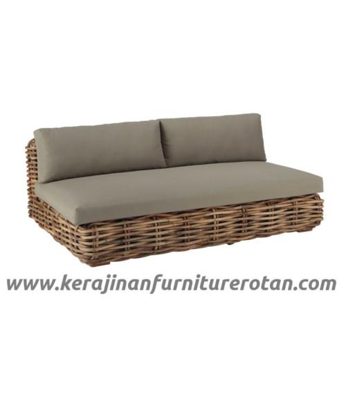 Furniture rotan export sofa rotan coklat modern