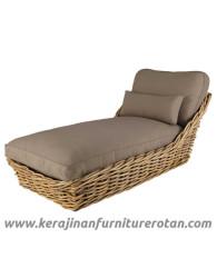 Furniture rotan export sofa rotan minimalis santai soklat