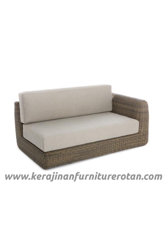 Furniture rotan modern export sofa rotan sudut