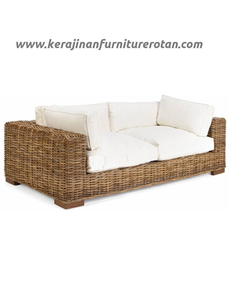 Sofa rotan kayu export furniture rotan minimalis modern