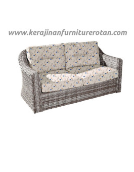 Sofa rotan modern export furniture rotan motif bunga
