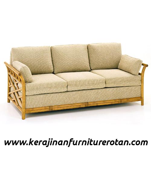 Furniture rotan export sofa rotan klasik retro coklat