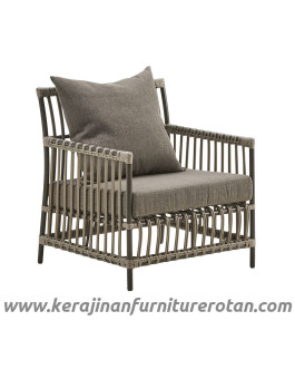 Furniture rotan export sofa rotan minimalis outdoor black