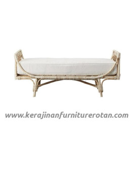 Furniture rotan export sofa rotan minimalis putih retro