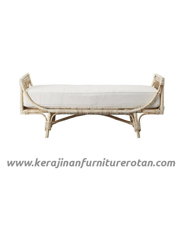 Furniture rotan export sofa rotan minimalis putih retro
