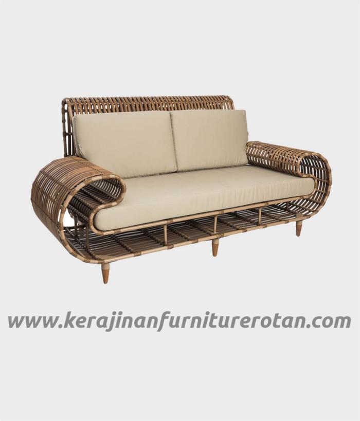 Furniture rotan export sofa rotan modern klasik coklat