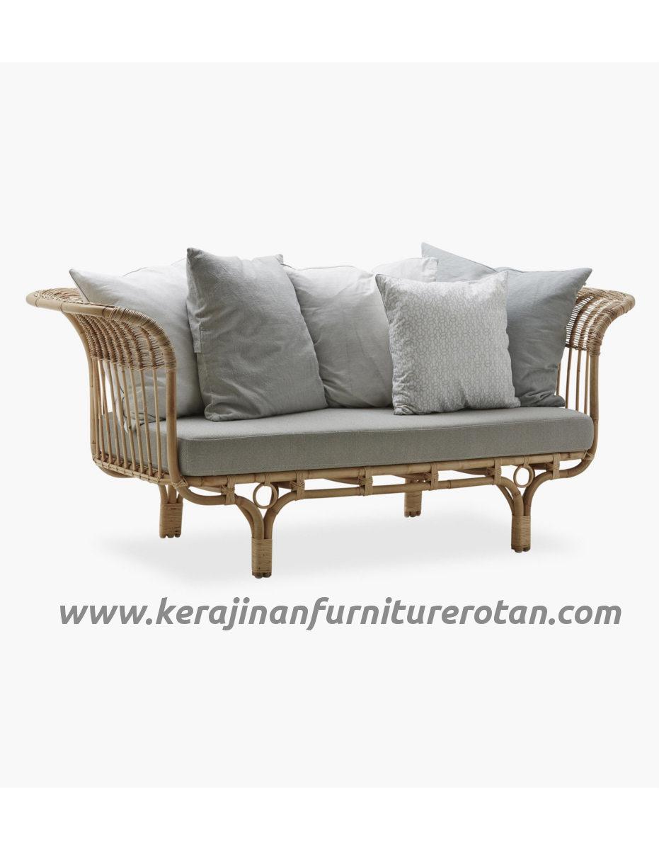 Furniture rotan export sofa rotan modern klasik putih