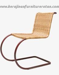 Furniture rotan export kursi rotan minimalis natural indoor coklat