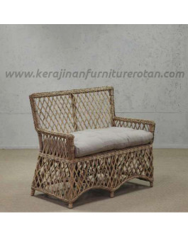 Furniture rotan export kursi rotan antik santai putih
