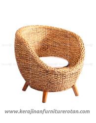 Furniture rotan export kursi rotan modern santai putih