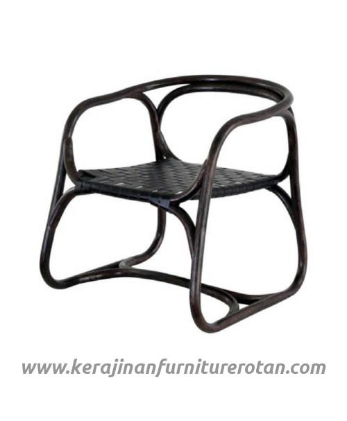 Furniture rotan export kursi tamu rotan black minimalis