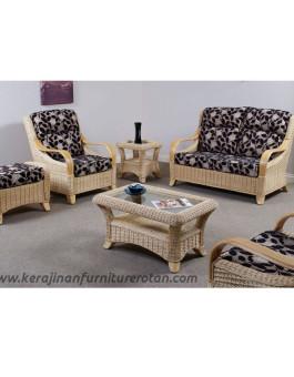 Furniture rotan export set sofa sudut rotan santai