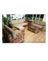 Furniture rotan export set sofa tamu rotan modern santai