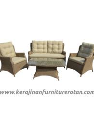 Furniture rotan export set sofa tamu rotan santai modern