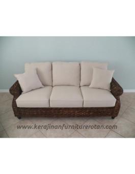 Furniture rotan export sofa tamu rotan coklat santai modern