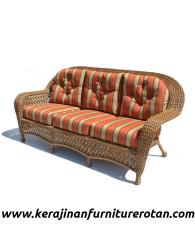 Furniture rotan export sofa tamu rotan santai modern orange