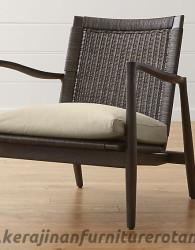 Furniture rotan export kursi rotan retro busa abu-abu