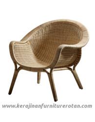 Furniture rotan export kursi santai coklat rotan modern wide
