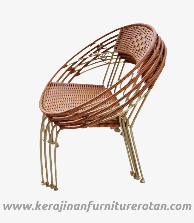 Furniture rotan export kursi santai rotan minimalis natural indoor coklat