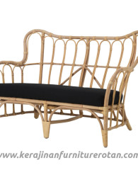 Sofa rattan black export