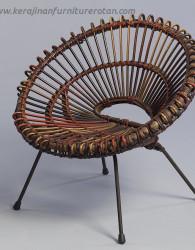 Kursi rotan matahari antik klasik jepara