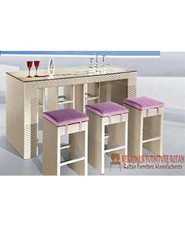 Meja Makan Rotan Furniture Minimalis KFR-AR-115