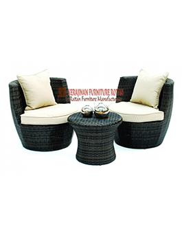 Kursi Teras Minimalis Kerajinan Furniture Rotan KFR-AR-010