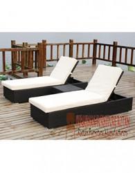 furniture rotan minimalis kerajinan lounger