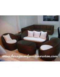 minimalis sofa kerajinan rotan