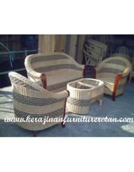 sofa dari rotan kerajinan furniture