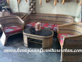 Meja Kursi Jepara Kerajinan Furniture Rotan KFR-AR-199