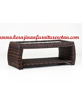 Meja Makan Kerajinan Furniture Rotan Sitetis YMJ-MM-207