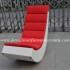 Kursi rotan minimalis KFR-KG-207 : kursi goyang rotan warna merah