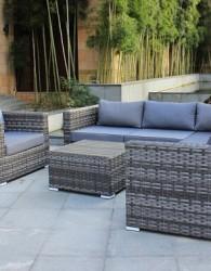 kerajinan indonesia sofa santai minimalis anyaman rotan