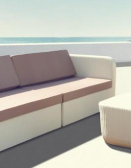 Furniture rotan sofa minimalis dengan style elegan