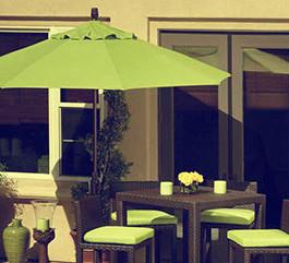 Kursi teras rotan sintetis moderen | Kursi teras bergaya minimalis yang elegan