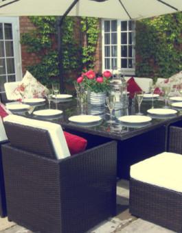 Set kursi makan rotan minimalis jepara dengan tampilan elegan | Kursi makan rotan KFR-KTR-70