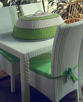 Meja makan rotan sederhana | Furniture rotan minimalis KFR-KTR 81