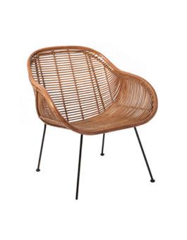 Kursi teras rotan sintetis minimalis dengan sandaran jaring-jaring