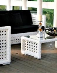 Pembuat Furniture Kursi Sofa Rotan Sintetis