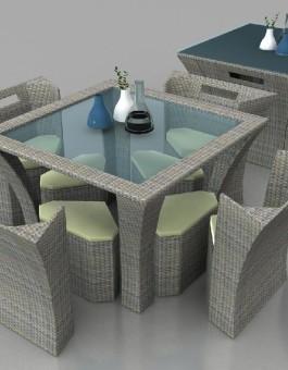 Kursi Makan Sofa Furniture Rotan